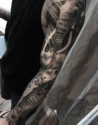 African Nature Sleeve Tattoo