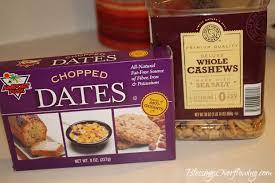 I Used Chopped Dates And Cashews