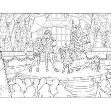 BARBIEs Xmas Gifts CHRISTMAS Show Online Coloring Page