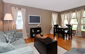Decorating Living Room Dining Combo With Grey Sofa