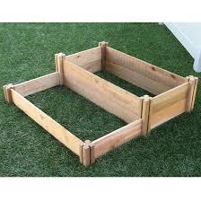 small multi level raised garden bed brown gronomics target