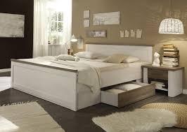 luca bettanlage bett schlafzimmerbett 2 nachtkästchen pinie weiß trüffel