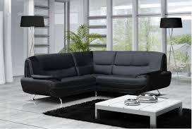 canapé moderne simili cuir réversible gris noir chocolat