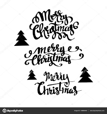 Christmas Letters Alphabet Or Font Made Of Pine Branches Stock Photo