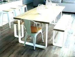 Wood Dining Table With Bench Room Seat Oak Seating Kitchen Benches