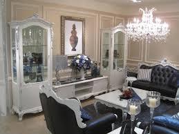 wohnwand vitrine konsole schrankwand glasvitrinen wohnzimmer barock rokoko e36