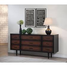 Johnson Carper 6 Drawer Dresser by With A Lovely Finish Of Deep Black That Fades Into A Gorgeous