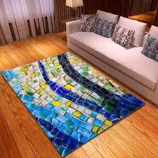 mosaik bunte teppich wohnzimmer schlafzimmer große größe teppiche baby blume küche boden matte flur 3d teppich soft tapete
