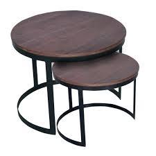 voglrieder couchtisch 2er set beistelltisch wohnzimmer tisch set rund metall gestell altsilber braun bassano möbel und schönes