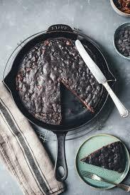 schoko nuss kuchen aus der pfanne