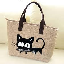korean women u0027s lady shopper tote cute cat hobo shoulder messenger