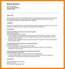 Example Of A Resume Summaryresume Summary Examples For Warehouse Worker What Your Pertaining To