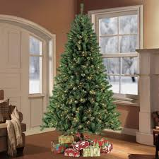 9 Ft Flocked Pre Lit Christmas Tree puleo 9 ft pre lit northern fir artificial christmas tree with