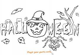 Happy Halloween Pumpkin Scary Coloring Pages
