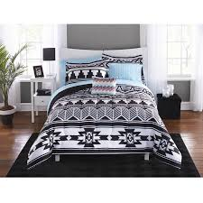 Twin XL College Girl Aztec Black White Southwest Style 6pc