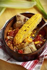 cuisiner des epis de mais épis de maïs rôtis et tamales de pommes de terre au comté cuisine