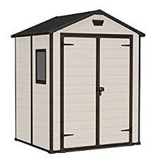 keter manor outdoor plastic garden storage shed 6 x 5 feet