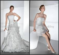 discount a line organza tiered corset back detachable skirt