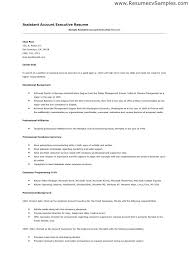 Sample Account Management Resume Accounting Executive Sales Free Resumes