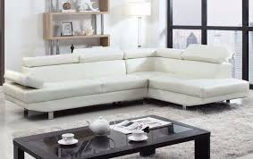 Poundex Bobkona Sectional Sofaottoman by Poundex 2 Pieces Faux Leather Sectional Right Chaise Sofa