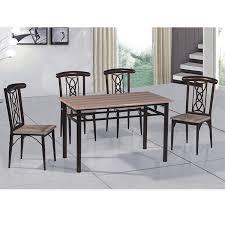 yukai heißer verkauf esszimmer möbel billig esszimmer set mdf brett mit metall dining set ein tisch und vier stuhl ds 136 buy indoor esszimmer