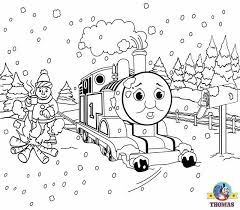 Free Christmas Coloring Pages For Kids Printable Theme Xmas Snow Pictures Thomas The Tank Engine