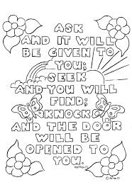 Printable Childrens Bible Story Coloring Pages Colouring Pictures Verses