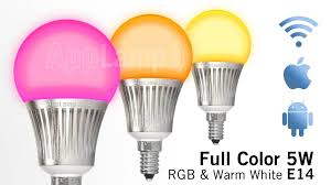 appl wi fi rf wireless color rgbw led bulb dimmable small