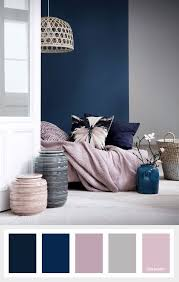 navy blue mauve and grey color palette schlafzimmer
