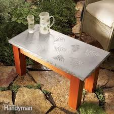 build your own concrete table family handyman
