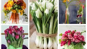 Spring Flower And Veggie Arrangements Ideas