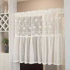 kitchen curtains scheibengardine weib cafe vorhänge küchengardine bistrogardine gardinen küche landhausstil querbehang