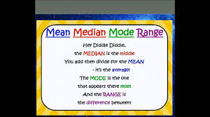 mode median and range how to remember median mode range