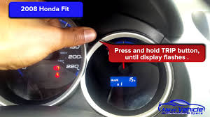 Malfunction Indicator Lamp Honda Fit by 2008 Honda Fit Oil Light Reset Service Light Reset Youtube
