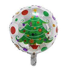 3 Pack Christmas Tree Foil Aluminum Bubbles Balloons Set