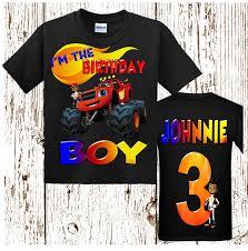 100 Monster Truck Shirts Blaze And The Birthday Shirt Boys Raglan Shirt