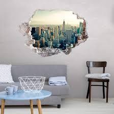 3d muursticker skyline new york city wanddekor