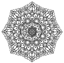 Coloring Pages Free Printable Mandala For Adults Image