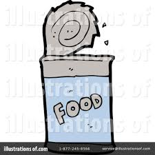 Royalty Free RF Canned Food Clipart Illustration by lineartestpilot