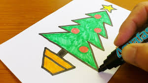 Very Easy How To Draw A Christmas Tree