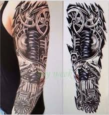 NiX 48x17CM Full Arm Hand Length Temporary Tattoos Men Women Girl