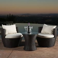Ebay Patio Furniture Sectional by Kyoto Outdoor Patio Furniture Brown Wicker 3 Piece Chat Set W