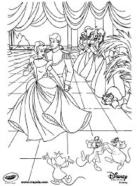 Disney Princess Cinderella At The Ball Printed 128565