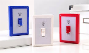 giftcraft led lighted switchplate design light asst w