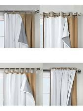 Room Darkening Curtain Liners by Blackout Liner Curtains Drapes U0026 Valances Ebay