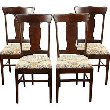 A Set Of Four Dining Chairs From About 1900 Are Solid Quarter Sawn ... Tiger Oak Fniture Antique 1900 S Tiger Oak Round Pedestal With Ding Chairs French Gothic Set 6 Wood Leather 4 Victorian Pressed Spindle Back Circa Room 1900s For Sale At Pamono Antique Ding Chairs Of Eight Chippendale Style Mahogany 10 Arts Crafts Seats C1900 Glagow Antiques Atlas Edwardian Queen Anne Revival Table 8 Early Sets 001940s Extendable With Ball Claw Feet Idenfication Guide