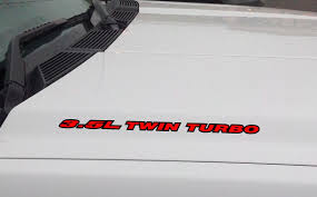 100 Ford Stickers For Trucks 35L TWIN TURBO Hood Vinyl Decal Sticker F150 Mustang EcoBoost V6 Outlin