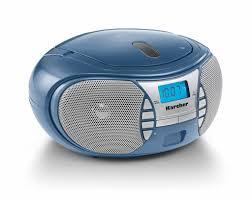 karcher rr 5025 c tragbares cd radio cd player ukw radio batterie netzbetrieb aux in kopfhöreranschluss blau