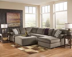 Grey Corduroy Sectional Sofa by Ideas Elegant Gray Sectional Sofa With Gray Oval Coffee Table On
