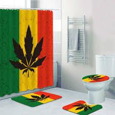 tropft marihuana blatt rasta reggae musik dusche vorhänge bad vorhang für badewanne wohnkultur rasta bad matten teppiche teppich